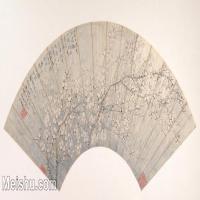【欣赏级】GH6070219古画花卉植物树木扇面图片-5M-2000X1029