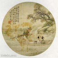 【印刷级】GH6080671古画人物-清代名家-船夫小孩提-小品图片-17M-2480X2433