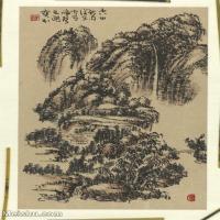 二玄社【超顶级】GH6040158古画立轴山居图山水风景图片-503M-16064X10944