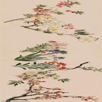 【印刷级】GH7280211古画花鸟百花图 明 周之冕 纸本(画心)长卷花卉镜片图片-70M-12978X2806_47732171