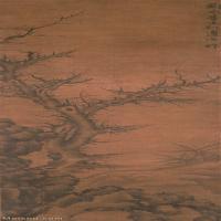【超顶级】GH6085320古画树木植物-枯木竹石图-元-李士行-绢本-30x97.5-110x358-枯-立轴图片-1437M-10756X35022_7520106
