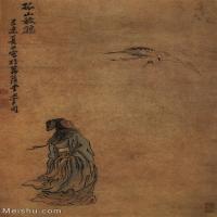 【欣赏级】GH6086135古画人物宋-佚名-故事图孤山放鹤-绢本35X52立轴图片-28M-2209X3320