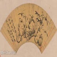 【打印级】GH6070266古画花卉植物树木竹石图扇面图片-43M-5493X2746_18126848