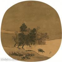 【印刷级】GH6081352古画山水风景-宋代山水小品树林木河流-小品图片-53M-3768X3678_2064033