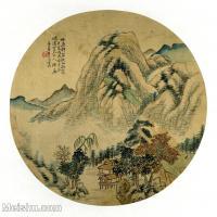 【印刷级】GH6081381古画山水风景-清代名家-小品图片-17M-2480X2423