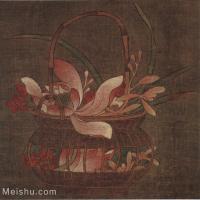 【印刷级】GH6080372古画花卉鲜花鸟蓝花图-宋-佚名国画工笔画-25x25.5-50x51-花篮-小品图片-49M-4136X4200