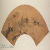 【欣赏级】GH6070393古画山水风景Qin Shi扇面图片-15M-3200X1640