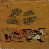 【印刷级】GH6086131古画人物唐-牧马图-绢本35x82.66立轴图片-115M-4134X9763_4472439