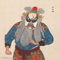 【印刷级】GH6061476古画脸谱(7)-人物-千里眼册页图片-39M-3321X4158