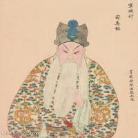 【印刷级】GH6061452古画脸谱(33)-人物-司马懿册页图片-39M-3314X4146