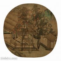【印刷级】GH6156210古画薇亭小憩图山水小品图片-33M-3486X3386