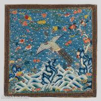 【印刷級】GH6063360古畫古代官服刺繡圖案孔雀冊頁圖片-42M-3849X3840_13762205