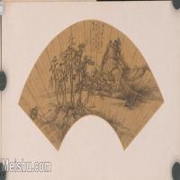【印刷级】GH6040269古画扇面山水图-王辉图片-79M-7418X3748_18129390