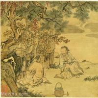 【印刷级】GH6080673古画人物-清代名家-农夫溪流-小品图片-16M-2480X2338_57382939