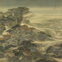 袁耀蓬莱仙境图轴-清朝-山水