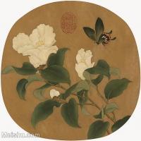 【印刷级】GH6080419古画花卉鲜花鸟-宋代-蝴蝶兰花-小品图片-33M-3213X3030_2044096