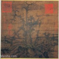 【印刷级】GH6080805古画树木植物宋-宋人-小寒林圖小品图片-41M-4096X3505