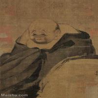 【欣赏级】GH6086197古画人物梁楷布袋和尚图立轴图片-16M-2030X2807_1976751
