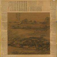 【超顶级】GH6088663古画山水风景明-谢时臣-苏堤联骠图立轴图片-870M-10858X21605_28590537