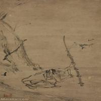 【打印級】GH6086144古畫人物宋-梁楷-六祖截竹圖立軸圖片-77M-2967X6832_1917330