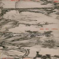 【超顶级】GH7280159古画山水风景白莲社章纸镜片图片-376M-19712X4799_19109030