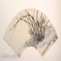 【欣赏级】GH6070221古画花卉植物树木扇面图片-5M-2000X1029