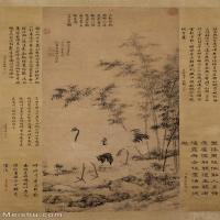 【印刷级】GH6085061古画动物明 边景昭 王绂 竹鹤双清图轴立轴图片-59M-3588X5841_29034516