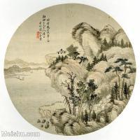 【印刷级】GH6081374古画山水风景-黄鹤山樵笔意兆奎-小品图片-16M-2480X2379