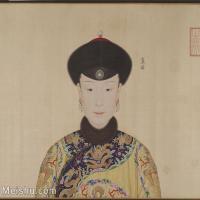 【印刷级】GH6151052古画册页人物清郎世宁高宗帝后像-皇后图片-10M-2001X1785