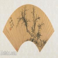 【欣赏级】GH6070211古画花卉植物树木扇面图片-14M-3200X1585