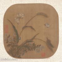 【印刷级】GH6080463古画花卉鲜花鸟清代吴荣光荷屋小品图片-34M-3471X3429
