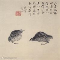 【欣赏级】GH6064778古画清朱耷八大山人-花鸟画册-(22)册页图片-3M-1000X1197