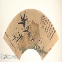 【欣赏级】GH6070225古画花卉植物树木扇面图片-5M-2000X1002