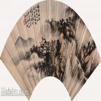 【打印级】GH6070409古画山水风景徐行敏山水扇面图片-42M-4874X2238_27125984