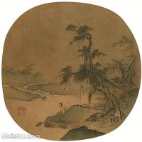 【印刷级】GH6081357古画山水风景-宋代山水小品树林木河流-小品图片-51M-3780X3708_2068042