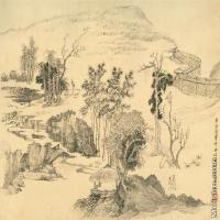 【打印级】GH7280029古画山水风景卢鸿草堂镜片图片-48M-5097X3353