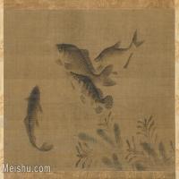 【印刷级】GH6080139古画动物明鱼藻图轴绢本小品图片-50M-5000X3513