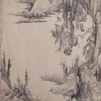 禹之鼎溪山行旅图卷-清朝-山水