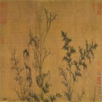 【打印级】GH7280533古画植物马麟:暮雪寒禽圖镜片图片-52M-6000X3062