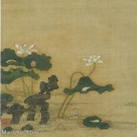 【印刷级】GH6152775古画册页山水明陈洪绶花卉册-图片-104M-5480X6674