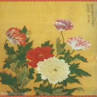 【打印级】GH6060467古画清张伟写生花卉册6册页图片-10M-1700X2064
