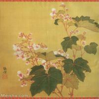 【打印级】GH6060473古画清张伟写生花卉册10册页图片-10M-1700X2068