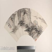 【打印级】GH6070374古画山水风景扇面图片-27M-4000X2377