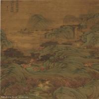 【超顶级】GH6040057古画立轴-清 李世达-仙山楼阁图轴图片山水风景-701M-9311X19753_54818080