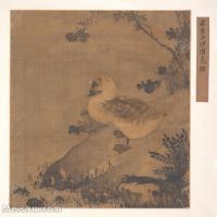 【印刷级】GH6080129古画动物宋代崔白沙鸥野鸭动物小品图片-41M-3629X4000