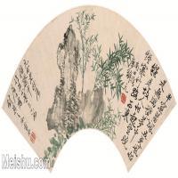 【打印级】GH6070265古画花卉植物树木清-恽寿平山水花卉八开扇面图片-68M-6178X2909