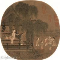 【印刷级】GH6080532古画人物佚名-荷亭戏婴图-小品图片-57M-4089X3765_18700027