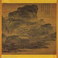 【打印級】GH6088587古畫山水風景宋 燕文貴-溪山樓觀立軸圖片-46M-2640X6144_1939763