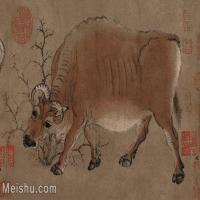 【印刷级】GH6080153古画动物韩滉-五牛图小品图片-61M-4345X2949_4464577