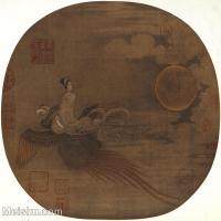 【印刷级】GH6080659古画人物-宋代-凤凰仙女-小品图片-54M-3828X3711